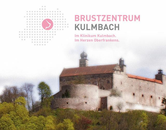 Burg mit Logo des Brustzentrum Kulmbach